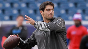 Brady will be replaced by Jimmy Garoppolo, a 2014 second-round determination from Eastern Illinois who won the Walter Payton award as the best player in the FCS. He has tossed 27 NFL passes, including one touchdown.