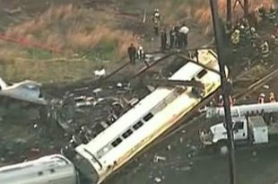 Horrifying Amtrak Crash On Train From D.C. To NYC.