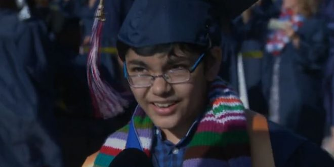 kid graduates college at 11 yrs old