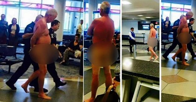 MAN STRIPS DOWN AT U.S. AIRWAYS NORTH CAROLINA AIRPORT
