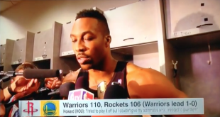 Dwight Howard Bruised Knee and Rockets Lose Game 1