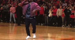 "Kanye West Performs 'All Day"" at Bulls/Cavs Game 4"