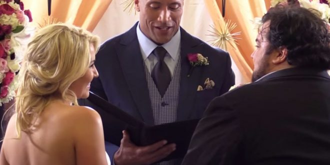 "VIDEO Dwayne ""The Rock"" Johnson Officiates a Surprise Wedding"