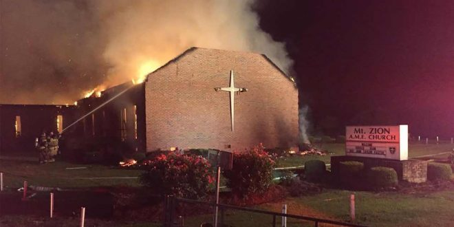 Another Fire at Mount Zion AME Church in SC, Arson?