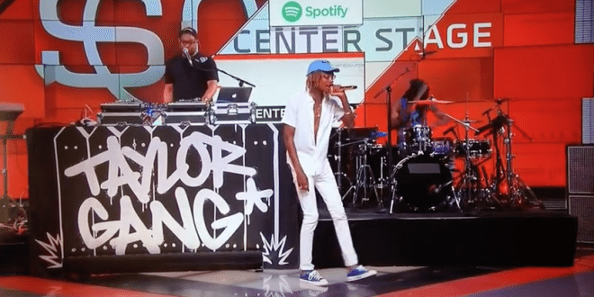 Wiz Khalifa Performs Live on ESPN Sportscenter NBA Draft 2015