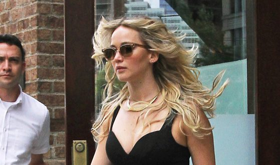Jennifer Lawrence Stuns in Sexy Crop Top And Pencil Skirt
