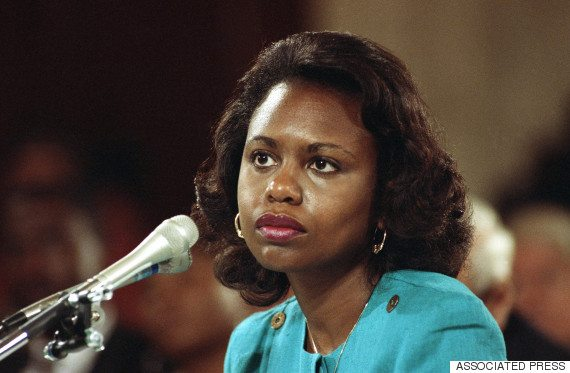 "FILE - This Oct. 11, 1991 file photo shows University of Oklahoma Law Professor Anita Hill testifying before the Senate Judiciary Committee on Capitol Hill in Washington. HBO says that ""Scandal"" star Kerry Washington will play Hill in a film about the 1991 Supreme Court confirmation hearings for Clarence Thomas. (AP Photo, File)"