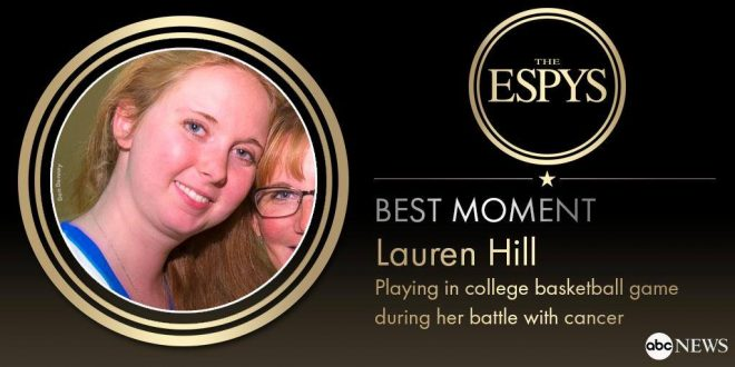 ESPYs Honor Lauren Hill with 'Best Moment' Award