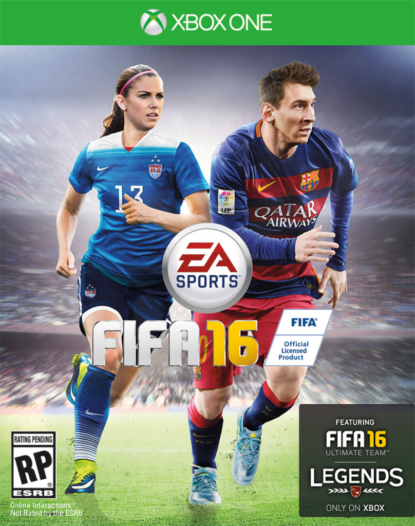 ALEX MORGAN REPRESENTS U.S. WOMEN ON HISTORIC #FIFA16 COVER