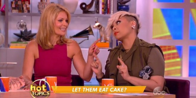 "VIDEO Candace Cameron Bure Defends Homophobic Bakery On ""The View"""