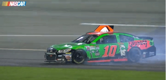 Danica Patrick Curses At Dale Earnhardt, Jr. After Crash