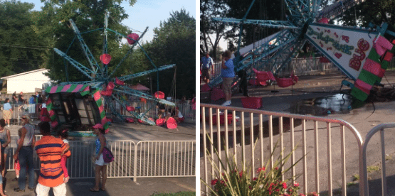 Several Injured After Children's Ride Tips Over at Kentucky Amusement Park