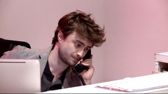 VIDEO Daniel Radcliffe Is the Worst Receptionist Ever for Funny Prank