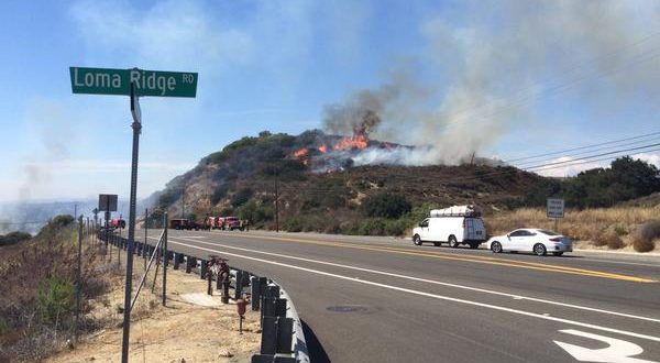 Fire near Irvine Lake Spreads to 150 acres; 2 Buildings destroyed, Evacuations in Progress