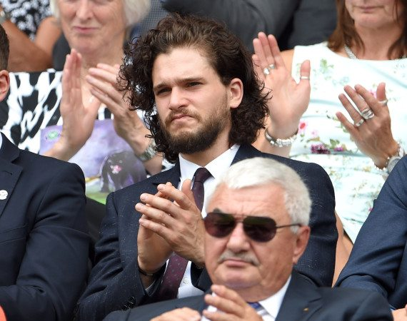 LONDON, ENGLAND - JULY 02:  Kit Harington attends the Christina McHale v Sabine Lisicki match on day four of the Wimbledon Tennis Championships at Wimbledon on July 2, 2015 in London, England.  (Photo by Karwai Tang/WireImage)