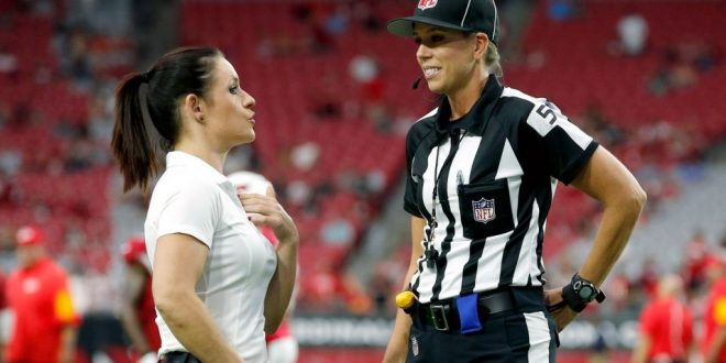 NFL's First Woman Referee, Assistant Coach Meet before Cardinals-Chief Game