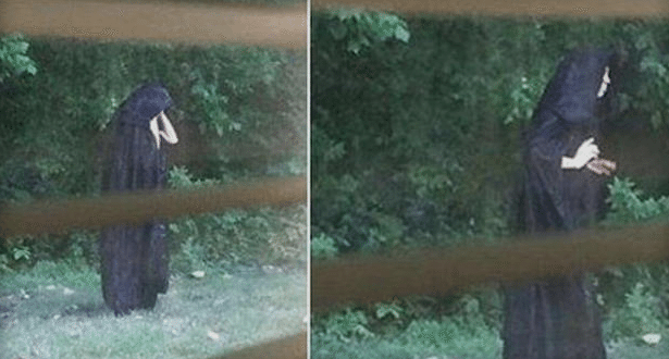 Police Investigating after Images of Creepy Guy in Dark Cloak go Viral