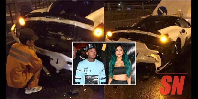 Kylie Jenner Crashes Tyga New Ferrari Birthday Present Just Hours After Receving It!