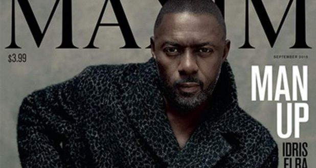 Idris Elba Makes History as First Male 'Maxim' Cover