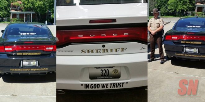 Cape Girardeau County, Missouri Sheriff's Office puts 'In God We Trust' on patrol cars