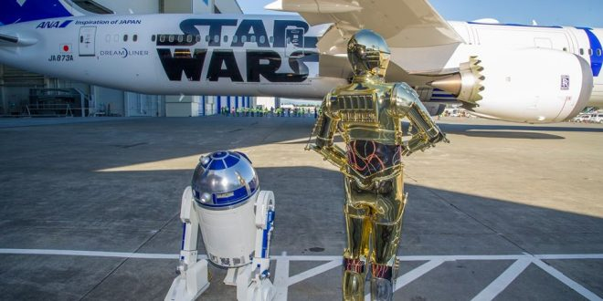 Boeing, ANA Unveil the First Themed Star Wars Dreamliner