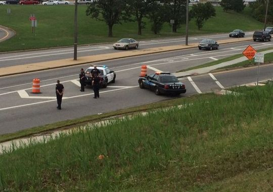Bomb squad investigates suspicious package on MLK Dr. in Cleveland. (Photo: Mark Smilor/WKYC)