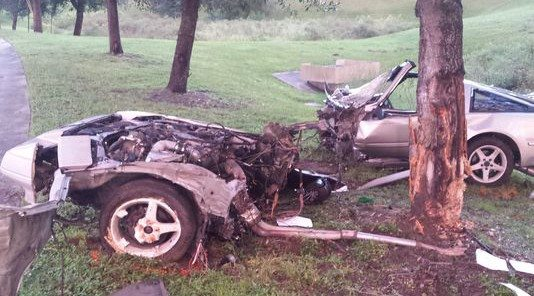 Winter Haven, Florida Man Survives Crash That Split Car in Two