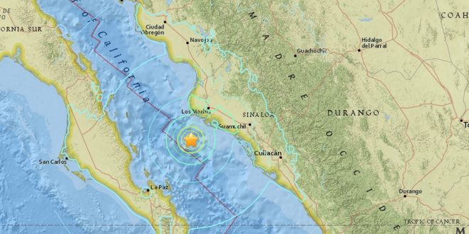 Magnitude 6.6 Earthquake Hits Gulf of California, Topolobampo, Mexico