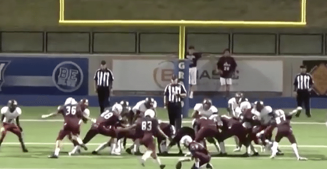 VIDEO High School Kicker Uses Ref's Head to Make Extra Point