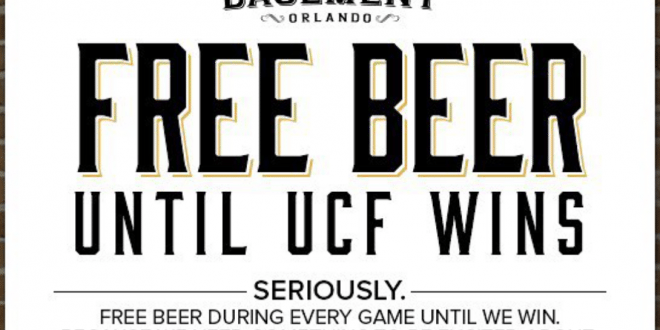 Orlando, Florida Bar Giving Away Free Beer Until UCF Football Wins