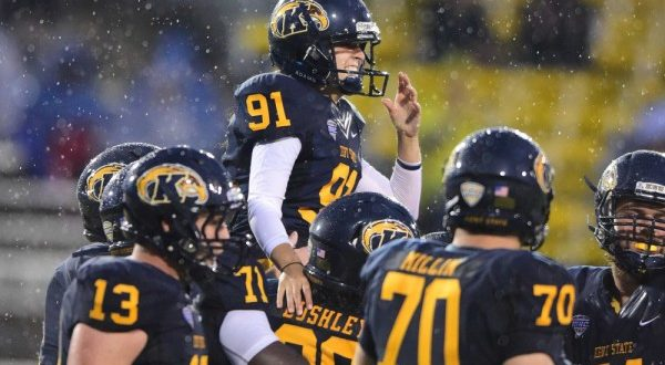 VIDEO Female kicker April Goss Makes Extra Point for Kent State