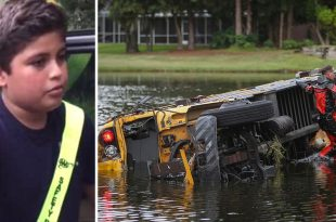 5th-Grader Hero Rescues Students Trapped Inside a Partially Submerged Bus