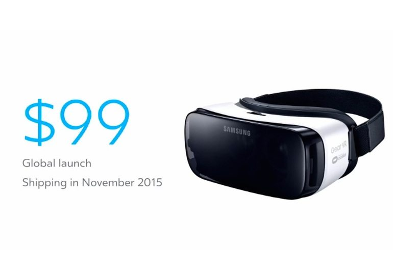 Samsung Gear VR Will Cost $99, Launches this November 2015