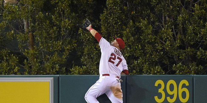 Mike Trout Climbs up Wall Like Spiderman Steals Home Run