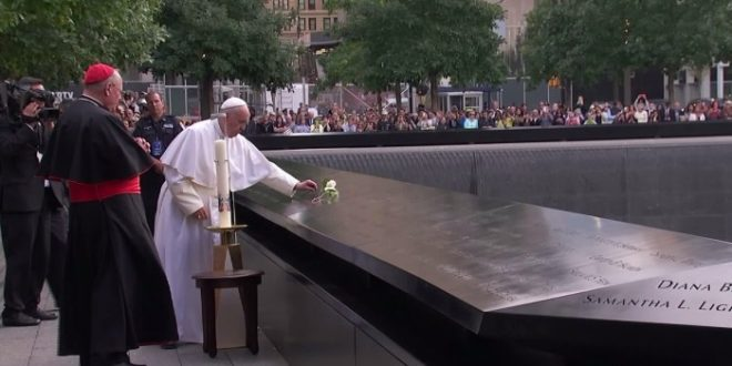 Pope Francis Prays at World Trade Center Site, Calls Out World Leaders at U.N.
