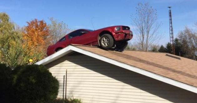 Car Runs Off Interstate 69 In Michigan, Lands On Roof Of Home