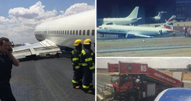 British Airways Airplane Wheel Collapses During Landing In South Africa