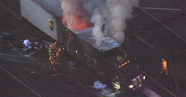 VIDEO Big-Rig Crash & Fire With Multiple Injuries Shuts Down I-680 In Walnut Creek, California
