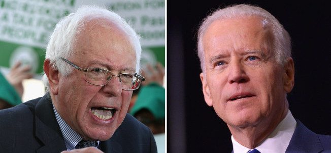 Vice President Joe Biden and Democratic Candidate Bernie Sanders Private Meeting