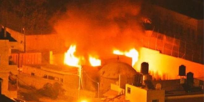 Palestinian Rioters Torch Jewish Holy Site Joseph's Tomb
