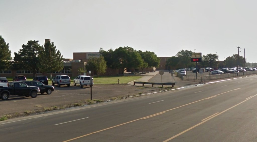 Pueblo County High School has been placed on lockdown while Pueblo County Sheriff's deputies investigate what authorities believe is a Halloween prank.
