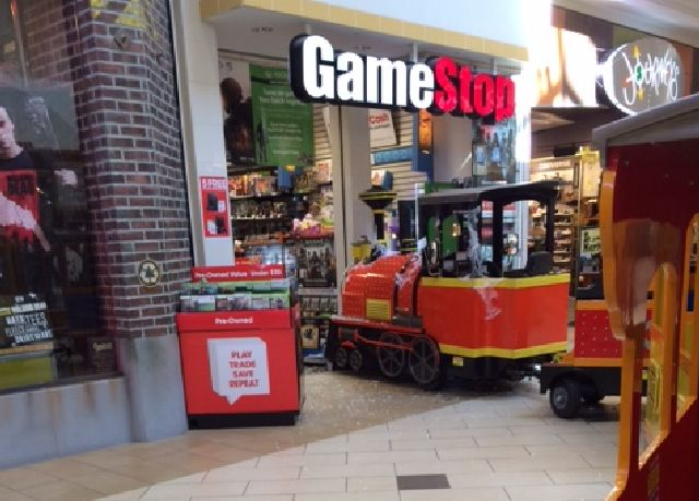 Eastwood Mall Miniature Train Crashes into GameStop Store