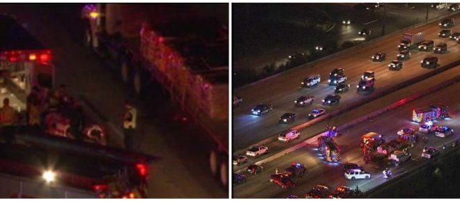 Accident Involving Pedestrian Shuts Down Interstate 45 in Houston