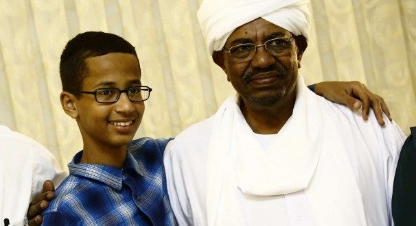 Ahmed Mohamed Arrested for Making a Clock Meets Sudan's President, an Accused War Criminal