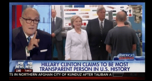 VIDEO Hillary Clinton Should Be Investigated for Breaking 15 Federal Laws Says Rudy Giuliani