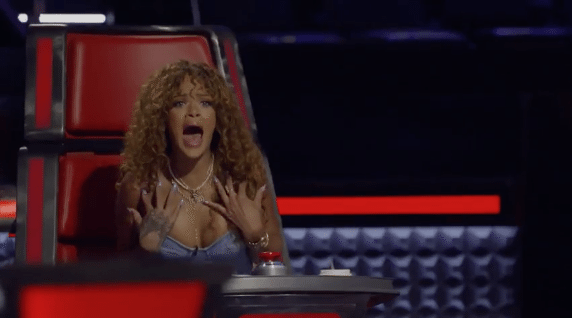 VIDEO Rihanna First Appearance On 'The Voice' Is Hilarious
