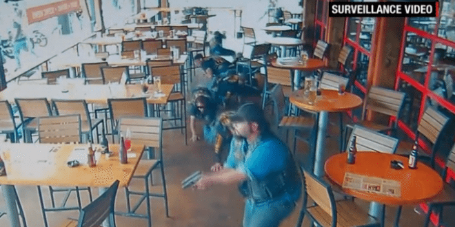 Surveillance Video Shows Waco Biker Shooting and Police at Twin Peaks Restaurant