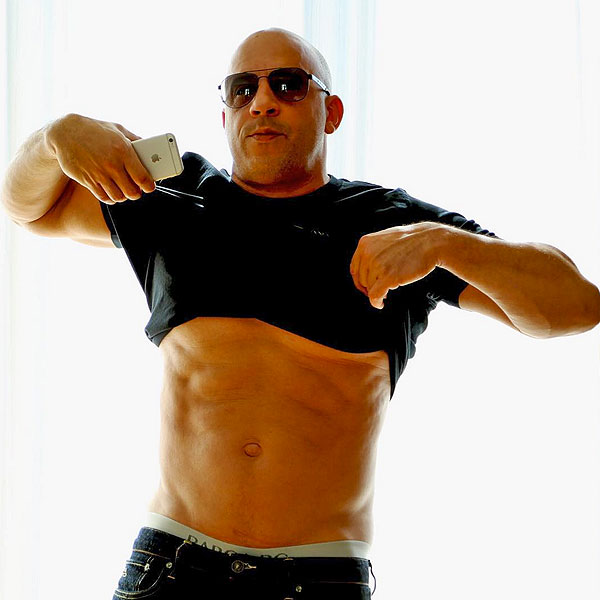 Vin Diesel Shows Off Abs on Instagram to Answer Critics of Previous Shirtless Pictures