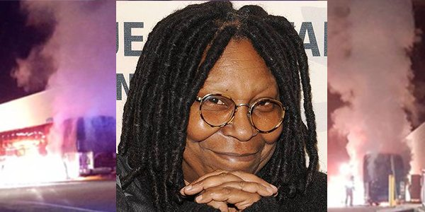 Whoopi Goldberg Cuts Show Short After Tour Bus Catches Fire