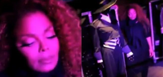 VIDEO Janet Jackson Secretly Poses as a Statue and Surprises Fans